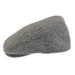 H-bone Flat Cap grey