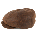 Leather cap,  brun