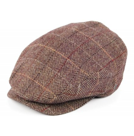 Tweed Extended Bill - brun/vinr�d
